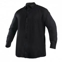 Camisa Oxford Negra Hombre